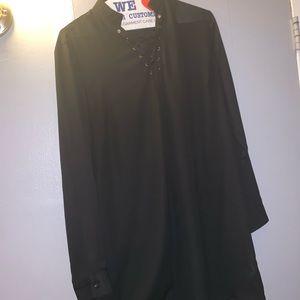 Sheer Little Black Dress size M but can fit L